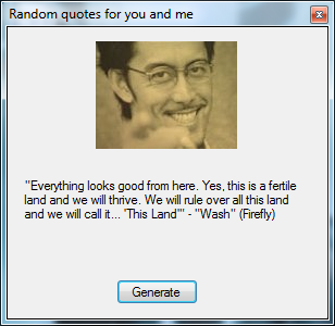 Random Quotes Generator Screenshot