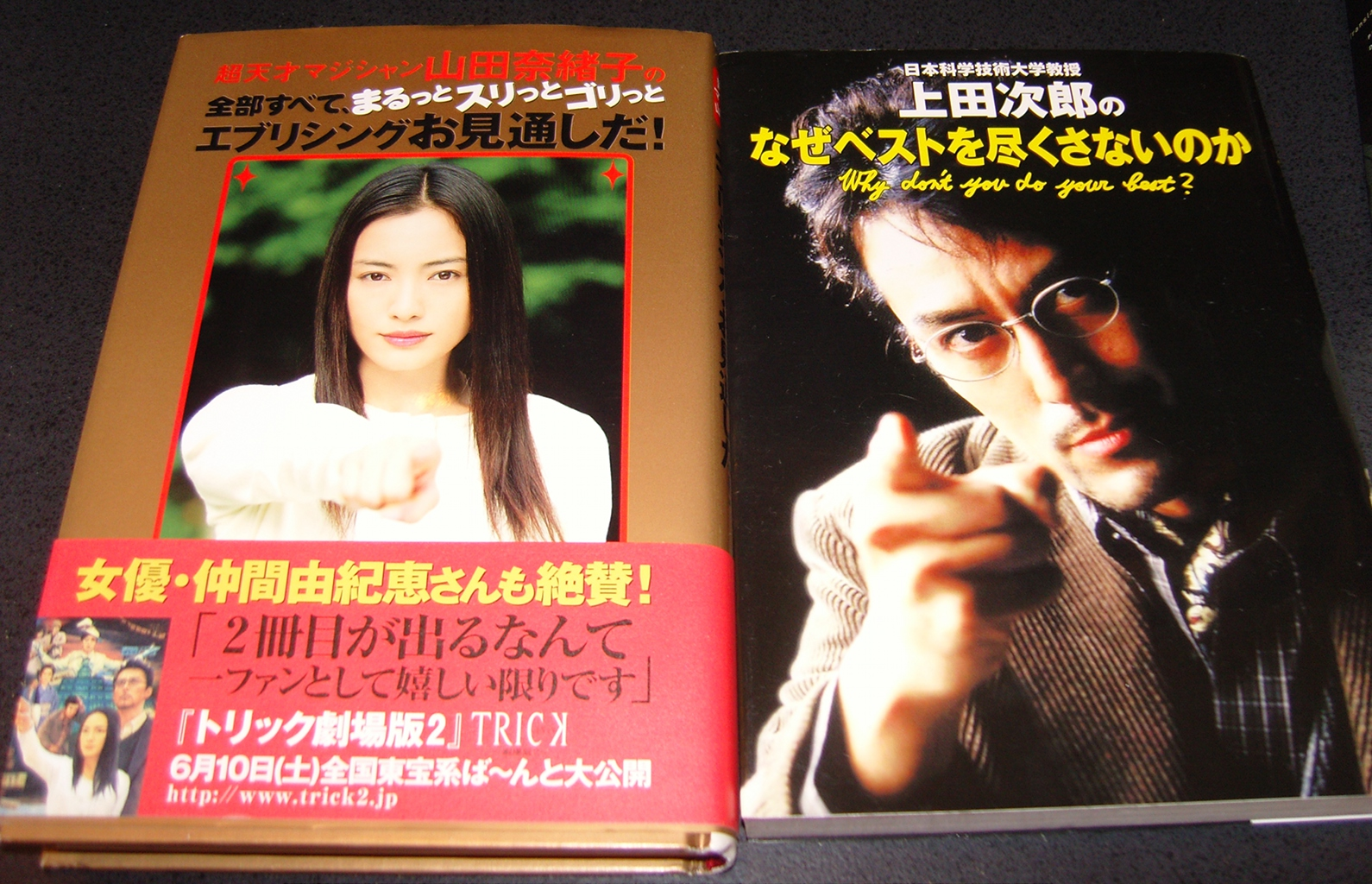 "Two books, ""written"" by characters the depicted on the covers, in the Trick Universe"