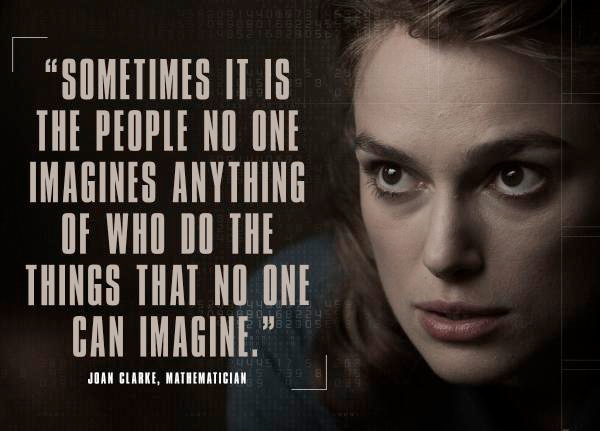 Inspirational quote from The Imitation Game